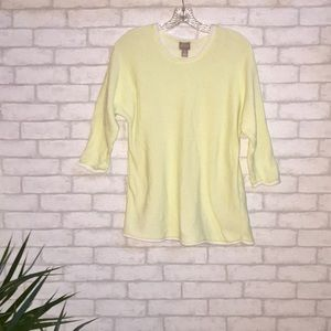 Chico's 3/4 Dolman Sleeve Knit Top Sz 1